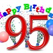 Stock Photo: Happy 95th birthday