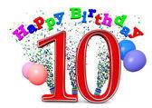 Happy 10th birthday — Stock Photo