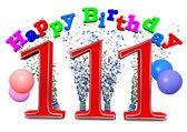 Happy 111th birthday — Zdjęcie stockowe