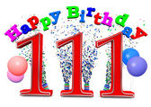 Happy 111th birthday — Foto de Stock