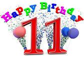 Happy 11th birthday — Stock Photo