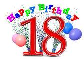 Happy 18th birthday — Zdjęcie stockowe