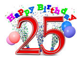 Happy 25th birthday — Stock Photo