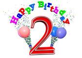 Happy 2nd birthday — Stock Photo