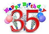 35: e födelsedagen — Stockfoto