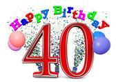 Happy 40th birthday — Stock Photo