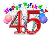 Happy 45th birthday — Stockfoto