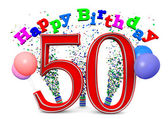 Happy 50th birthday — Stock Photo