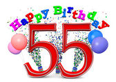 Happy 55th birthday — Stockfoto