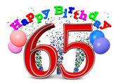 Happy 65th birthday — Stock Photo