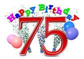 Happy 75th birthday — Stok fotoğraf
