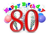 Happy 80th birthday — Stock Photo