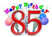 Happy 85th birthday — Stock Photo