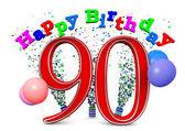 Happy 90th birthday — Foto Stock