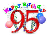 Happy 95th birthday — Stock Photo