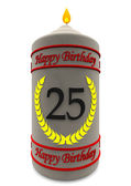 Birthday candle for 25th birthday — Stock Photo
