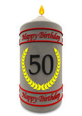 Birthday candle for 50th birthday — Stock Photo