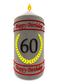 Birthday candle for 60th birthday — Stock Photo
