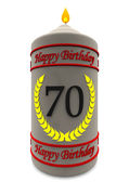 Birthday candle for 70th birthday — Stock Photo