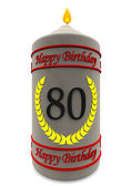 Birthday candle for 80th birthday — Stock Photo