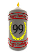 Birthday candle for 99th birthday — Stock Photo