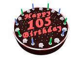 Chocolate cake for 105th birthday — Stock Photo