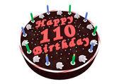 Chocolate cake for 110th birthday — Stockfoto