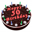 Stock Photo: Chocolate cake for 50th birthday