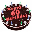 Chocolate cake for 60th birthday — Stock Photo #33690593