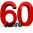60 Jahre — Stock Photo