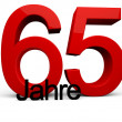 65 Jahre — Stock Photo
