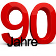 90 Jahre — Stock Photo