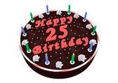 Chocolate cake for 25th birthday — Stockfoto