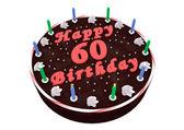 Tort czekoladowy na 60-te urodziny — Zdjęcie stockowe
