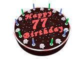 Chocolate cake for 77th birthday — Zdjęcie stockowe