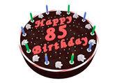 Chocolate cake for 85th birthday — Stockfoto