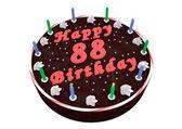 Chocolate cake for 88th birthday — Foto Stock
