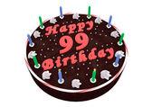 Chocolate cake for 99th birthday — Stock Photo