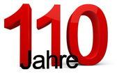 110 Jahre — Stock Photo