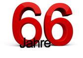 66 Jahre — Stock Photo