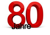80 Jahre — Stock Photo