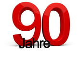 90 Jahre — Stock Photo