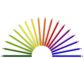 Crayon in semicircular — Stock Photo