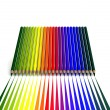 Crayons with linear color trace — Stock Photo #34589843
