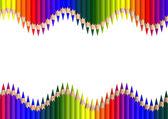 Double crayonwave — Stock Photo