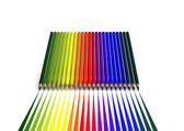 Crayons with linear color trace — Stock Photo