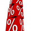 percentage sign — Stock Photo