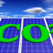 CO2 and Solar — Stock Photo