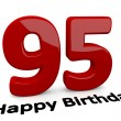Big red number for the birthday — Foto Stock