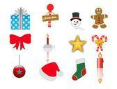 Julen ikoner anger — Stockvektor